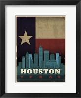 Framed Houston Flag