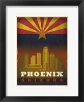 Framed Phoenix Flag