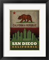 Framed San Diego Flag