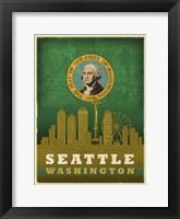 Framed Seattle Flag