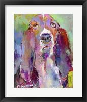 Framed Art Basset Hound