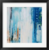 Framed Blue Rain
