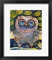 Framed Collage Owl