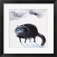 Framed Black Cat 3