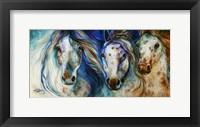 Framed 3 Wild Appaloosa Horses