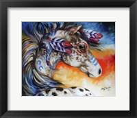 Framed Appaloosa Indian War Horse
