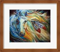 Framed Breaking Dawn Indian War Horse