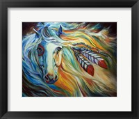 Framed Breaking Dawn Indian War Horse