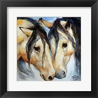Framed Buckskin Friends