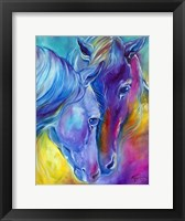 Framed Color My World With Horses Loving Spirits