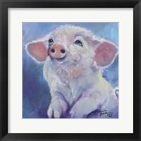 Framed Feed Me Little Pink Piglet