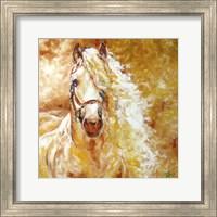 Framed Golden Grace Andalusian Equine