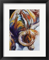 Framed Longhorn Abstract