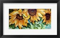 Framed Sunflower Dance