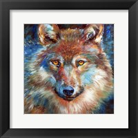 Framed Timber Wolf Abstract