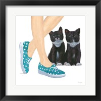 Cutie Kitties III Framed Print