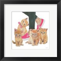 Framed Cutie Kitties I