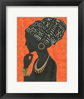 Framed Graceful Majesty II Orange
