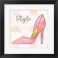 Framed Fashion Blooms I Pink