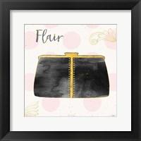 Framed Fashion Blooms II Black