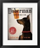 Framed Doberman Brewing Company NY