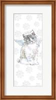 Framed Christmas Kitties I Snowflakes