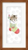 Framed Christmas Kitties IV Snowflakes