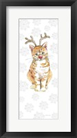 Framed Christmas Kitties III Snowflakes