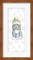 Framed Christmas Kitties II Snowflakes
