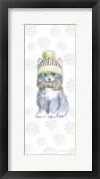 Framed Christmas Kitties II Snowflakes