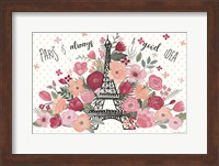 Framed Paris is Blooming I