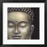 Framed Serene Buddha II Crop