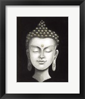 Framed Serene Buddha I White Gold