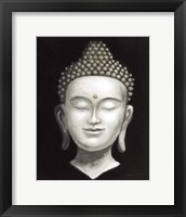 Framed Serene Buddha II White Gold