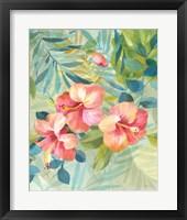Framed Hibiscus Garden III