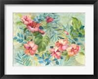 Framed Hibiscus Garden