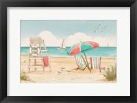 Framed Beach Time I