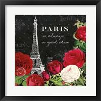 Framed Rouge Paris II Black