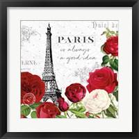 Framed Rouge Paris II