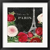 Framed Rouge Paris III Black