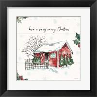 Holiday on the Farm IV Merry Christmas Framed Print