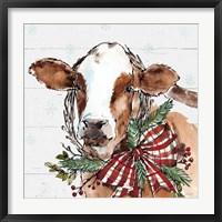 Framed Holiday on the Farm VIII on Gray