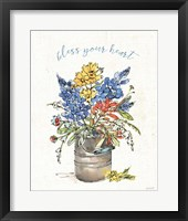 Framed Texas Bluebonnet I