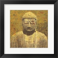 Framed Asian Buddha Crop