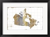 Framed Gilded Map Canada