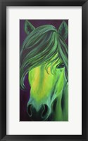 Framed Green Horse