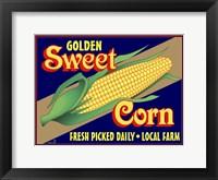 Framed Sweet Corn Crate Label