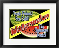 Framed Watermelon Crate Label