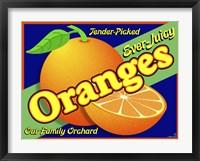 Framed Orange Crate Label