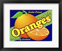 Framed Orange Crate Label